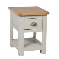 Sutton Grey Painted Lamp Table / Oak Side Table With 1 Drawer / New /solid wood