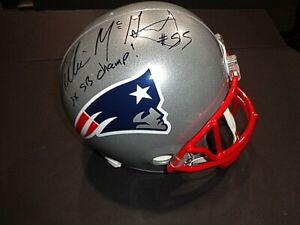 Willie MCGinest New England Patriots Autographed INSCRIB F/S Helmet Rep JSA COA