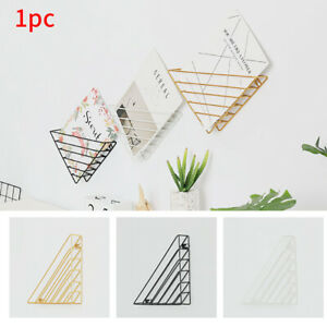 Triangle Hanging Book Shelf Wall Mounted Storage Iron Structure Study