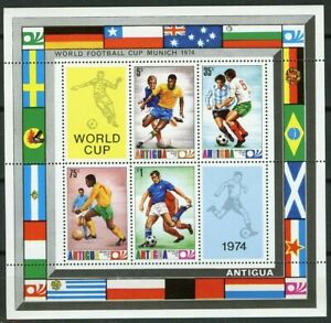 Antigua Scott 348a World Cup Soccer Championship, Munich ss MNH 1974