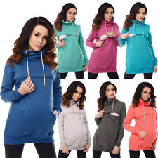Purpless Maternity 2in1 Pregnancy and Nursing Cowl Neck Sweatshirt Top B9054