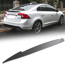 2018 For VOLVO S60 4D Saloon V Type Trunk Spoiler T5 T6 Sport Painted