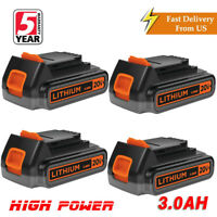 4X For Black&Decker 20V Max Lithium Battery 3.0Ah LBXR20 LBXR2020-OPE LCS1620 US