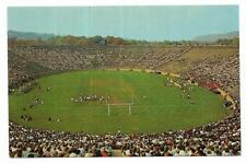 Vintage Connecticut Chrome Postcard New Haven Yale Bowl Aerial View