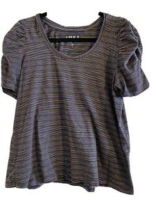 LOFT Puff Sleeve T-Shirt, Super Cute, Size L, EUC