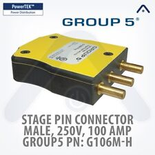 MARINCO G106M-H Group 5, Stage Pin Connector, Male 100 Amp, 250V, Plug - Yellow