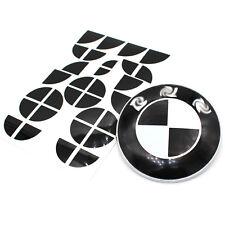 Emblem Ecken schwarz glanz alle BMW Motorhaube usw. 82mm 74mm M Paket Aufkleber
