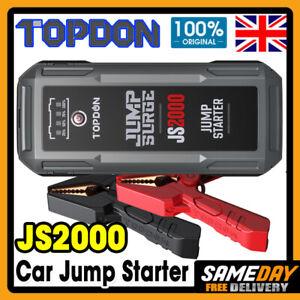TOPDON 2000A Peak Jump Starter Portable Car Battery Pack Charger Truck ATV SUV