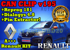 🔧 Renault 4 in 1 KIT: CAN CLIP v195 + Reprog 181 + Dialogys 4.8 + PIN EXTRACTOR