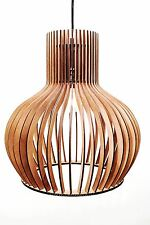 Holzleuchte   Pendelleuchte XL  Modern Design Holz Neu