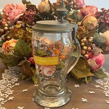 Antique German Enamel Glass Tankard