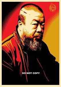 A4 GLOSSY PHOTO Ai Weiwei HUMAN RIGHT ACTIVIST SHEPARD FAIREY PRINT PHOTO  #8
