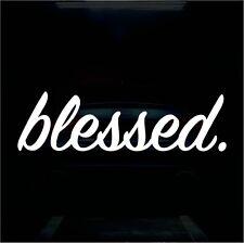Blessed Sticker Vinyl Decal Religious Sticker JDM Car Sticker For Honda Acura