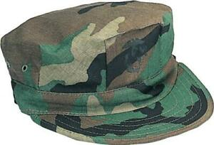 Military Issued USMC Woodland Patrol Cap with Emblem-NEW