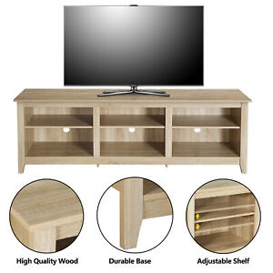 Classic 6 Cubby TV Stand for TVs up to 80 Inches 70 Inch Storage Compartment