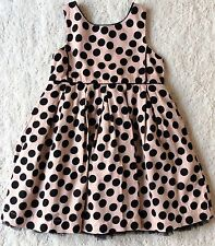 GIRLS SPOTTY PARTY DRESS – NEXT - AGE 4-5 YEARS – BLACK/ BEIGE PINK