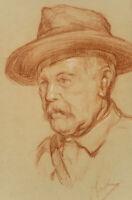 V.d. SPECK OBREEN (1888), Bildnis eines Mannes mit großem Hut, A. 20.Jd., Zng.