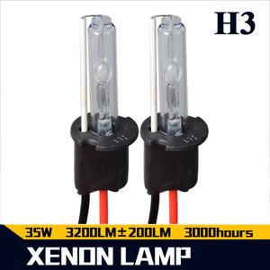 2X 35W H3 HID Xenon Bulbs Headlight Lamp Conversion Kit Lamps 6000K 12000K 8000K