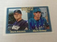 1997 Topps 483 Mark Johnson and Kotsay Dual Autographed Auto Signed Card