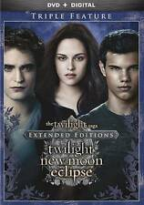 NEW!! The Twilight Saga: Twilight/New Moon/Eclipse (3-DVD Extended Set, 2015)