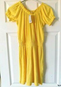 RIVER ISLAND Yellow Rib Short Sleeve Casual Dress Age 11-12 Years 152 CM BNWT