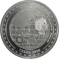 1 oz .999 Fine Silver Bullion Tokelau Terra Coin 2020