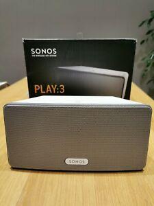 Sonos Play 3 White WiFi Network multi room speaker S2