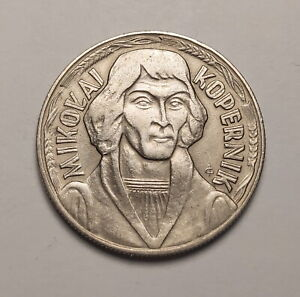 Poland 10 Zloty 1969 Copernicus Commerative Very Nice Coin VF