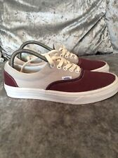 Vans Burgundy Canvas Shoes / Trainers Size 7 Brand New
