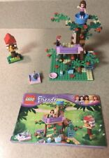 Lego Friends Olivia's Tree House with Manual and Minifigures.