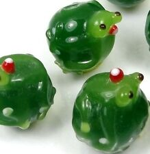 Special for Christmas! Lampwork Handmade Glass Frog on the Ball Beads SALE!