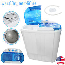 Portable Lightweight Mini Washing Machine Spin Dryer Twin Tub Laundry Washer US