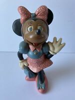 Vintage Walt Disney Productions Hand Painted Ceramic Minnie Mouse Figurine 1976