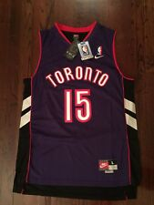 Vince Carter Toronto Raptors RARE Throwback Stitiched Swingman Jersey sz L NWT
