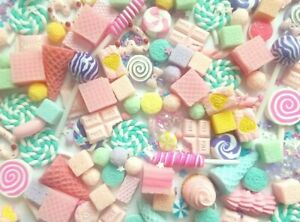 Candy sweet cabochon set, decoden charms, slime making crafts, craft supplies