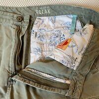 "Tommy Bahama 34 x 9"" Relax Tencel Blend Gray Cargo Shorts"