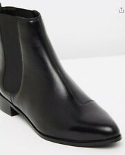 New Classic Black Leather Ankle Boots