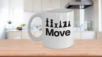 Chess Move Mug Coffee Cup Funny Gift for Gamer Grandmaster Player King Game