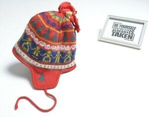 VTG STEFFNER Austria Mens BEANIE Ski Hat Pompon Cap Pure New Wool Bobble EISBAR