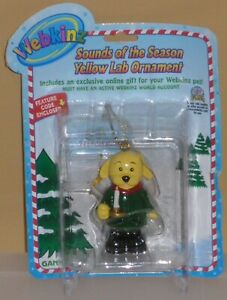 """Webkinz-""""Sounds of the Season Yellow Lab Orn""""W/ Online Code From Ganz Plush NEW"""