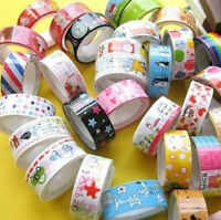 10 Rolls Mixed Washi Cartoon Deco Scrapbooking Sticker Adhesive Tape Stationery