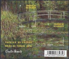 2010 FRANCE BLOC F4479 ** BF Jardins de GIVERNY par Claude MONET, (Tableau) MNH