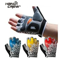 Hand Crew Unisex Adult Road Mountain Cycling Bike Half Gloves w/ 3D Gel Pad Palm