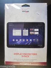 3x New Clear LCD Screen Protector Guard Film for Motorola Xoom Tablet PC 3 Pack
