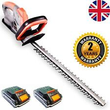 More details for electric hedge trimmer cutter cordless battery - 2 batteries included & charger