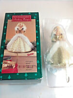 Happy Holidays Barbie Stocking Hanger Golden Dress Barbie  1995 VINTAGE