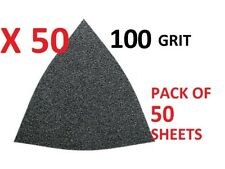 FEIN Detail Sanding Triangle Sheets x 50 QTY 100 Grit 63717084013