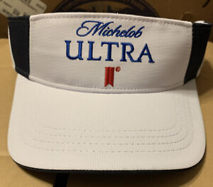 Michelob Ultra Golf Beach Visor New One Size Fits All Adjustable