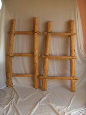 2 Vintage Southwest Native American Style Wood Display Ladders Leather Ties NICE