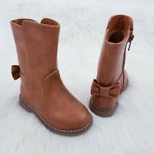 Cat & Jack Toddler Girls Boots Size 7 Brown Fashion Bow Boots